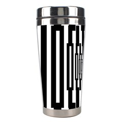 Black Stripes Endless Window Stainless Steel Travel Tumblers