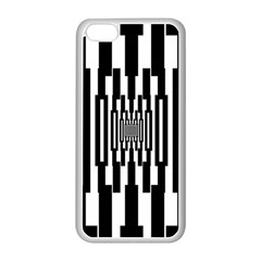 Black Stripes Endless Window Apple Iphone 5c Seamless Case (white)