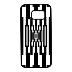 Black Stripes Endless Window Samsung Galaxy S7 Black Seamless Case