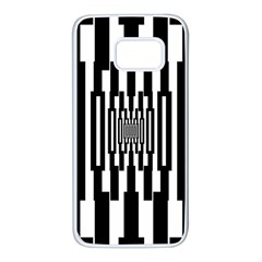 Black Stripes Endless Window Samsung Galaxy S7 White Seamless Case