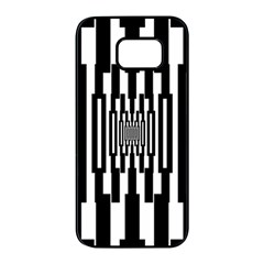 Black Stripes Endless Window Samsung Galaxy S7 Edge Black Seamless Case