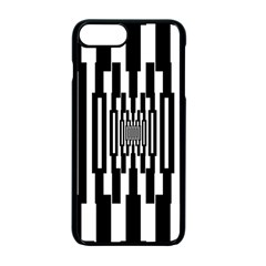 Black Stripes Endless Window Apple Iphone 7 Plus Seamless Case (black)