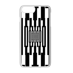 Black Stripes Endless Window Apple Iphone 7 Plus White Seamless Case