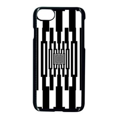Black Stripes Endless Window Apple Iphone 7 Seamless Case (black)
