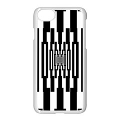 Black Stripes Endless Window Apple Iphone 7 Seamless Case (white)