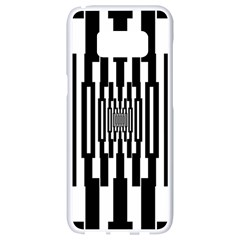 Black Stripes Endless Window Samsung Galaxy S8 White Seamless Case