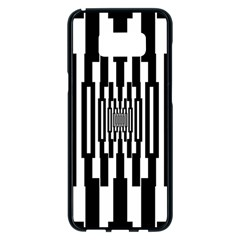 Black Stripes Endless Window Samsung Galaxy S8 Plus Black Seamless Case