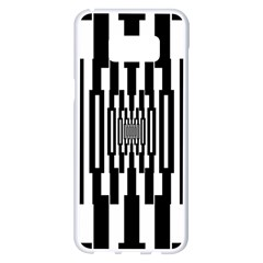 Black Stripes Endless Window Samsung Galaxy S8 Plus White Seamless Case