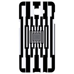 Black Stripes Endless Window Samsung C9 Pro Hardshell Case