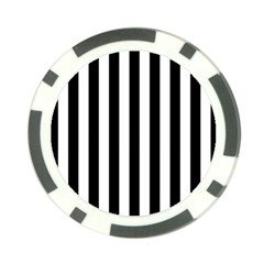 Black And White Stripes Poker Chip Card Guard (10 Pack)