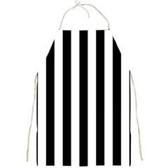 Black And White Stripes Full Print Aprons