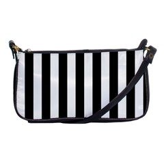 Black And White Stripes Shoulder Clutch Bags