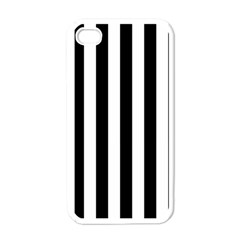 Black And White Stripes Apple Iphone 4 Case (white)