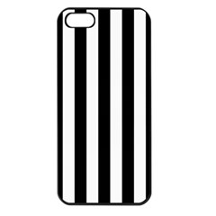 Black And White Stripes Apple Iphone 5 Seamless Case (black)