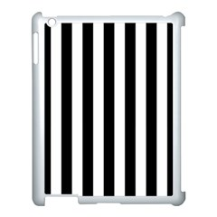 Black And White Stripes Apple Ipad 3/4 Case (white)
