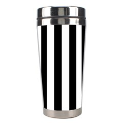 Black And White Stripes Stainless Steel Travel Tumblers