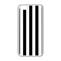 Black And White Stripes Apple Iphone 5c Seamless Case (white)