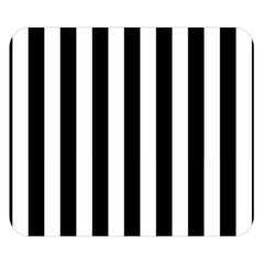 Black And White Stripes Double Sided Flano Blanket (small)