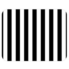 Black And White Stripes Double Sided Flano Blanket (medium)