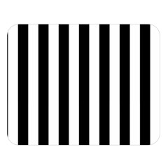 Black And White Stripes Double Sided Flano Blanket (large)