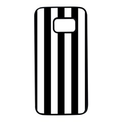 Black And White Stripes Samsung Galaxy S7 Black Seamless Case