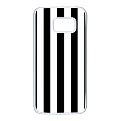 Black And White Stripes Samsung Galaxy S7 White Seamless Case