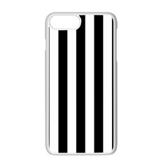 Black And White Stripes Apple Iphone 7 Plus White Seamless Case