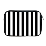 Black And White Stripes Apple MacBook Pro 17  Zipper Case Front