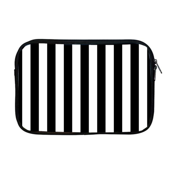 Black And White Stripes Apple MacBook Pro 17  Zipper Case