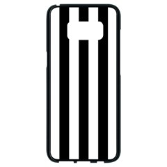 Black And White Stripes Samsung Galaxy S8 Black Seamless Case