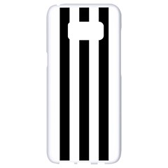 Black And White Stripes Samsung Galaxy S8 White Seamless Case