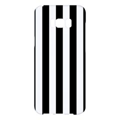 Black And White Stripes Samsung Galaxy S8 Plus Hardshell Case