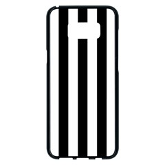 Black And White Stripes Samsung Galaxy S8 Plus Black Seamless Case
