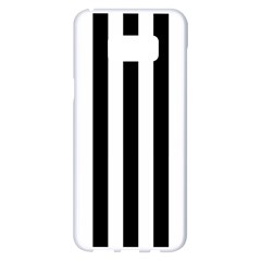 Black And White Stripes Samsung Galaxy S8 Plus White Seamless Case