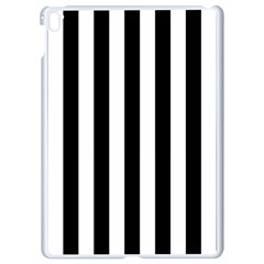 Black And White Stripes Apple Ipad Pro 9 7   White Seamless Case