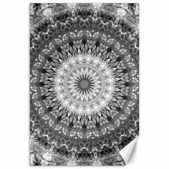 Feeling Softly Black White Mandala Canvas 24  X 36