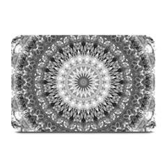Feeling Softly Black White Mandala Plate Mats