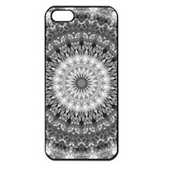 Feeling Softly Black White Mandala Apple Iphone 5 Seamless Case (black)