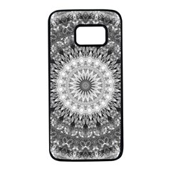 Feeling Softly Black White Mandala Samsung Galaxy S7 Black Seamless Case