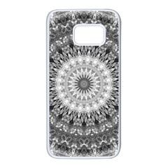 Feeling Softly Black White Mandala Samsung Galaxy S7 White Seamless Case
