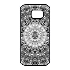Feeling Softly Black White Mandala Samsung Galaxy S7 Edge Black Seamless Case