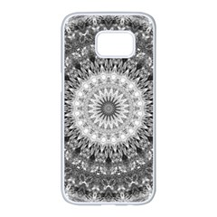 Feeling Softly Black White Mandala Samsung Galaxy S7 Edge White Seamless Case