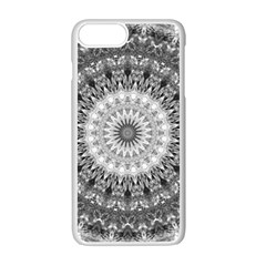 Feeling Softly Black White Mandala Apple Iphone 7 Plus White Seamless Case