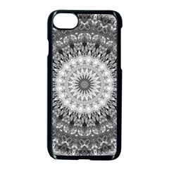 Feeling Softly Black White Mandala Apple Iphone 7 Seamless Case (black)