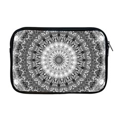 Feeling Softly Black White Mandala Apple Macbook Pro 17  Zipper Case