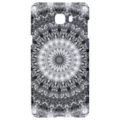 Feeling Softly Black White Mandala Samsung C9 Pro Hardshell Case