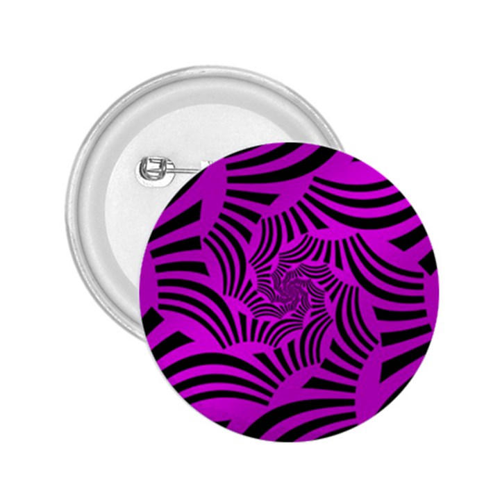Black Spral Stripes Pink 2.25  Buttons