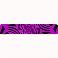Black Spral Stripes Pink Small Bar Mats