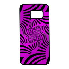 Black Spral Stripes Pink Samsung Galaxy S7 Black Seamless Case