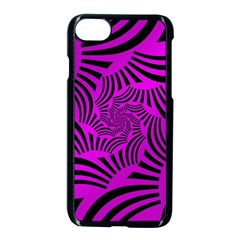 Black Spral Stripes Pink Apple Iphone 7 Seamless Case (black)